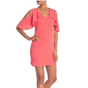 Trina Turk Kaidence Cold Shoulder Dress Coral S